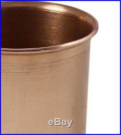 Set of 8 Glasses, Pure Copper Tumblers Ayurvedic Water Drinking Glasses, 350 Ml