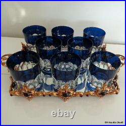 Set of 8 Whiskey glasses in crystal Saint Louis PERFECT