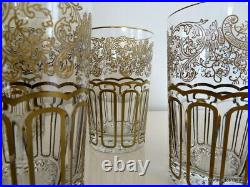 Set of tea glasses MUGS in crystal Saint Louis RABAT gold in perfect condition