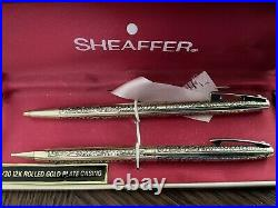Sheaffer Golden Vintage Ball Pen and Pencil Set New in Box Product! Perfect