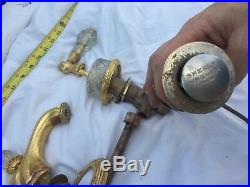 Sherle Wagner Faucet Set Crystal PreOwn Gold Plated Some parts Perfect, Some Not