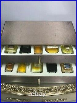 Shiseido perfume gold collection gift set (10 pure parfum). Rare vintage 1970s