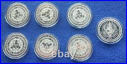 Silver Shield DISOBEY FULL SET of 7 Mini Mintage Golden State. 999 PURE SILVER