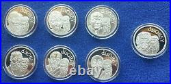 Silver Shield DISOBEY Series FULL SET of 7 MiniM Golden State. 999 PURE SILVER