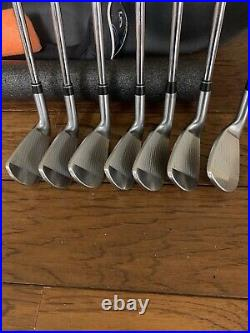 Srixon Male RH Z- 765 4-PW Iron Set KBS Stiff, New Pure Midsize Grips, +1 Inch