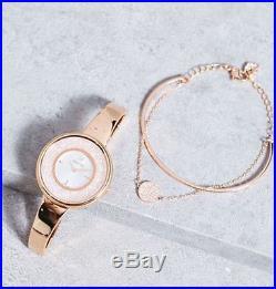 Swarovski Crystalline Pure Rose Gold Tone Watch and Bracelet Set 5297166