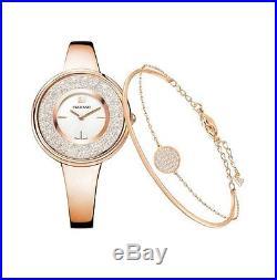 Swarovski Crystalline Pure Watch Set, WithBracelet Authentic MIB 5297166
