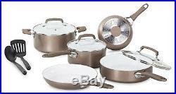 T-FAL/WEAREVER Pure Living Cookware Set, Ceramic Interior, 10-Pc. C944SA64