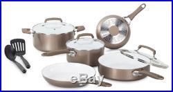 T-Fal/Wearever C944SA64 Pure Living Cookware Set, Ceramic Interior, 10-Pc