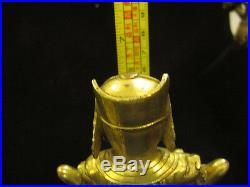 Tibet Pure Purple Bronze 24K Gold Guan Ping Zhou Cang Guan Gong warrior God Set