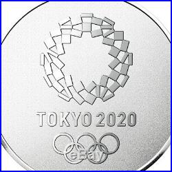 Tokyo Olympics 2020 official Pure Gold Sterling Silver Medallion Set