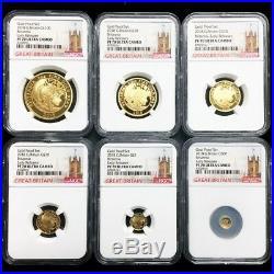 UK 2018 Great Britain Britannia Premium 6-Coin Gold Proof Set NGC PF70UC Perfect