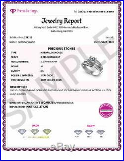 UNIQUE 1.55CT Natural DIAMONDS I/SI1 Bridal Set, PURE 14KT Yellow Gold, 6355.00