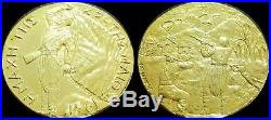 Very Very Rare Set Medals History Of Crete 70 Years Pure Silver Gold Plated