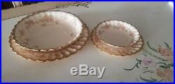 Vintage Asbury Golden Ware Sebring 22k Pure Gold set of 6 plus serving Platters