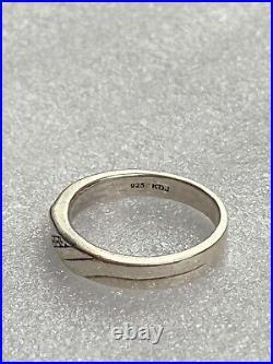 Wedding Rings Set KDJ Pure Love 24K Gold 925 Sterling Silver Diamond Sz 8.5