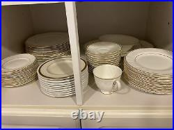 Wedgwood Bone Chine Crown Gold(72 Piece Set) Perfect Condition