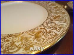 Wedgwood Florentine Gold Fine Bone China 6 Piece Place Setting W4219 Perfect