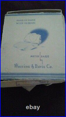 Whiting & Davis gold mesh bag set. Never used. Perfect condition. Includes box